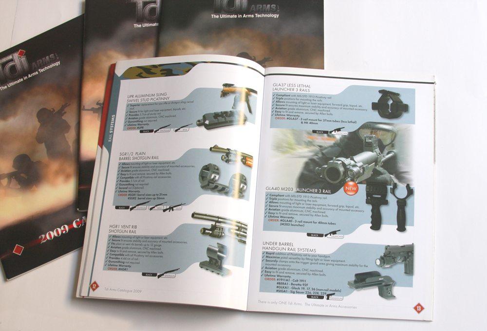 עיצוב קטלוג אביזרים לנשק tdi arms