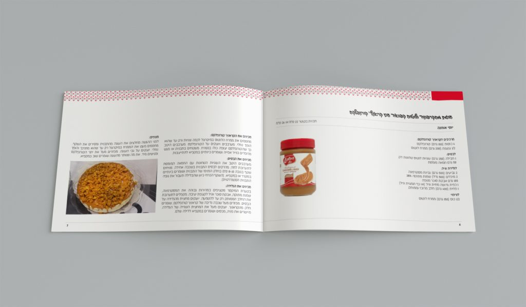 עיצוב חוברת מתכונים לשבועות לעובדי קבוצת טובול