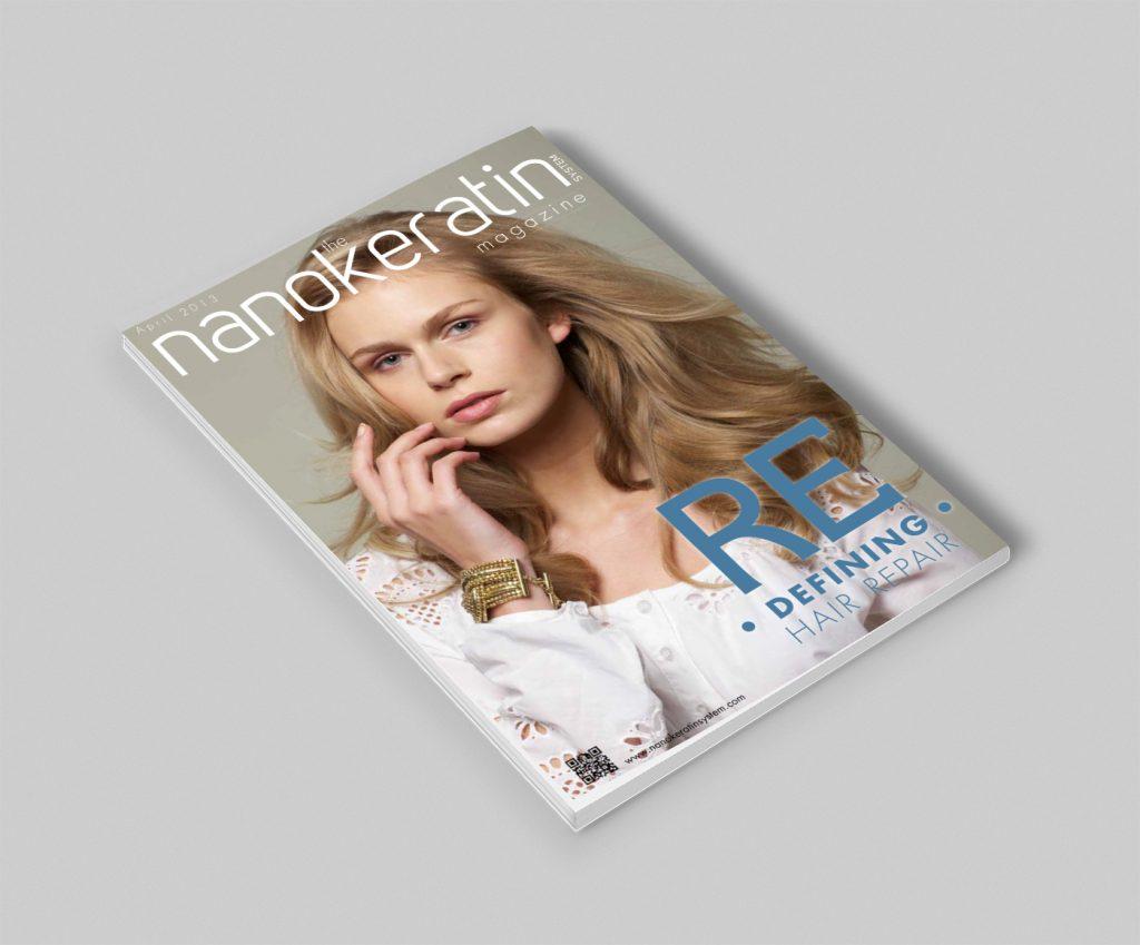עיצוב שער למגזין nanokeratin
