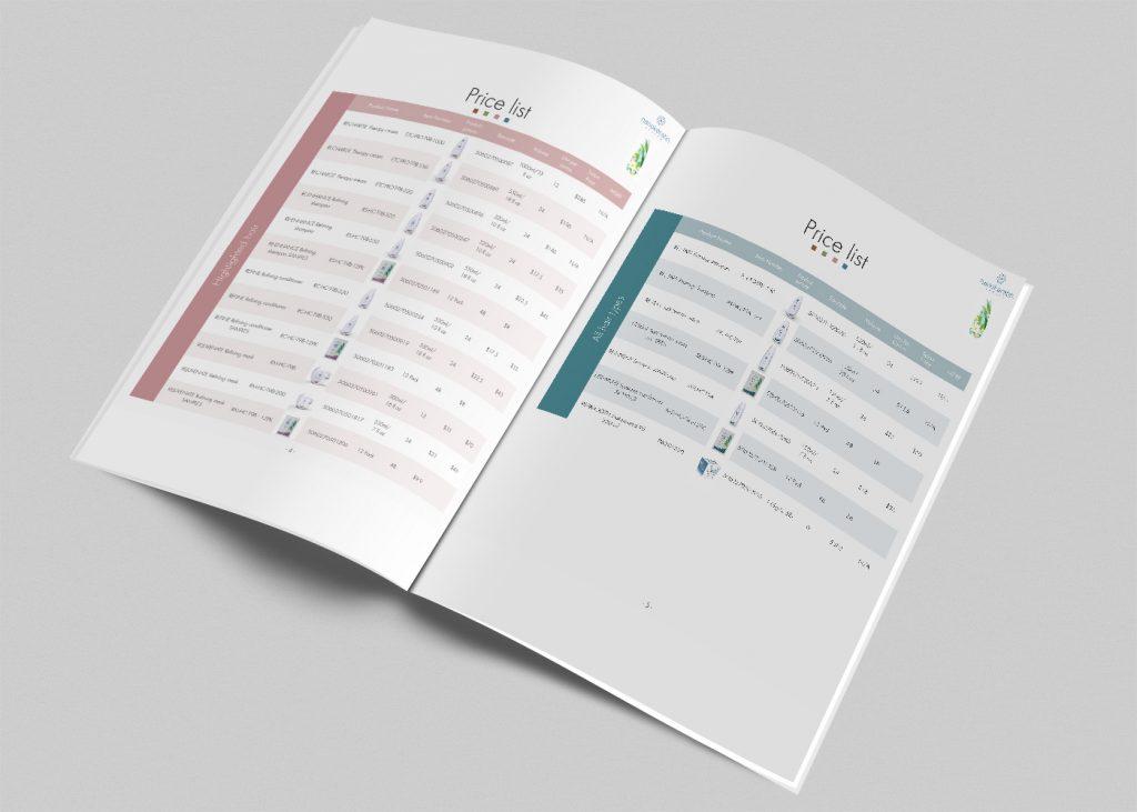 עיצוב מחירון למגזין nanokeratin