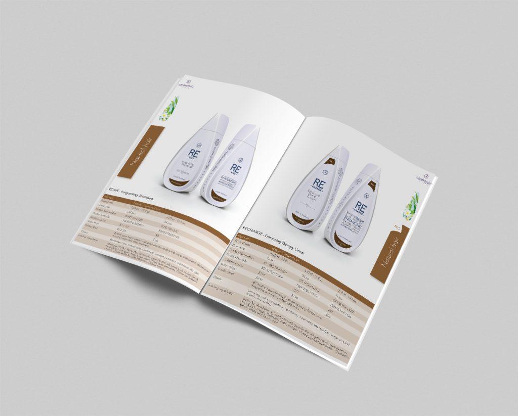 עיצוב חוברת מוצרים nanokeratin