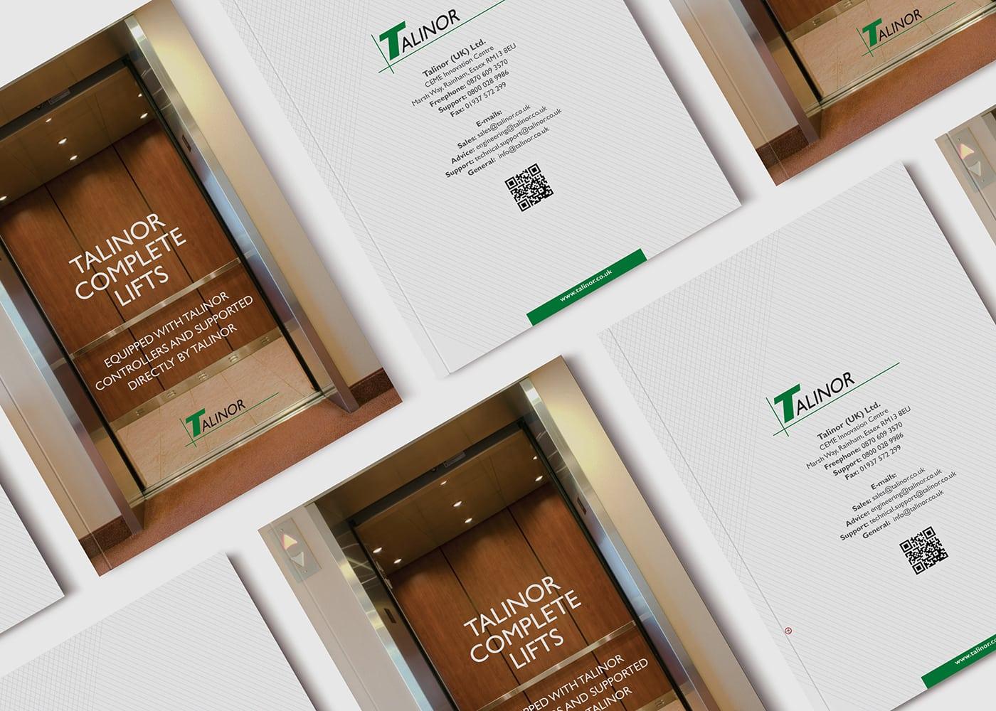 עיצוב שער קידמי ואחורי לקטלוג של חברת talinor lifts