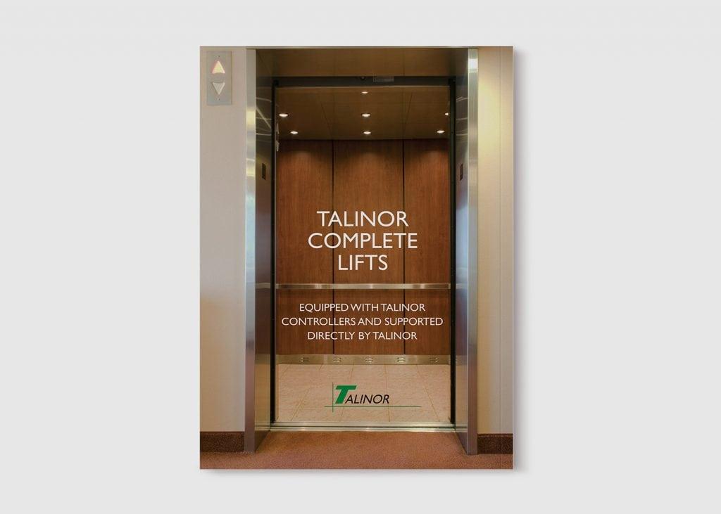 עיצוב שער קטלוג לחברת talinor lifts