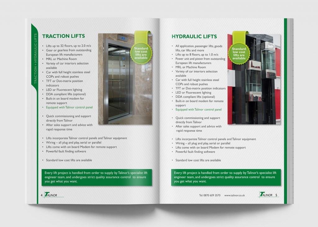עיצוב דאבל - קטלוג לחברת talinor lifts