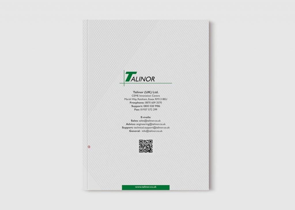 עיצוב שער אחורי קטלוג לחברת talinor lifts